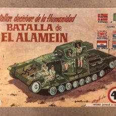 """Tebeos: BATALLAS DECISIVAS DE LA HUMANIDAD N° 196 """"LA BATALLA DE ALAMEIN"""". GALAOR 1965.. Lote 196554096"""