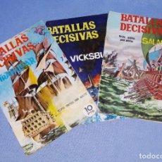 Tebeos: LOTE DE 3 COMICS ORIGINALES DE BATALLAS DECISIVAS DE GALAOR EN MUY BUEN ESTADO EXCEPTO UNO. Lote 197067733