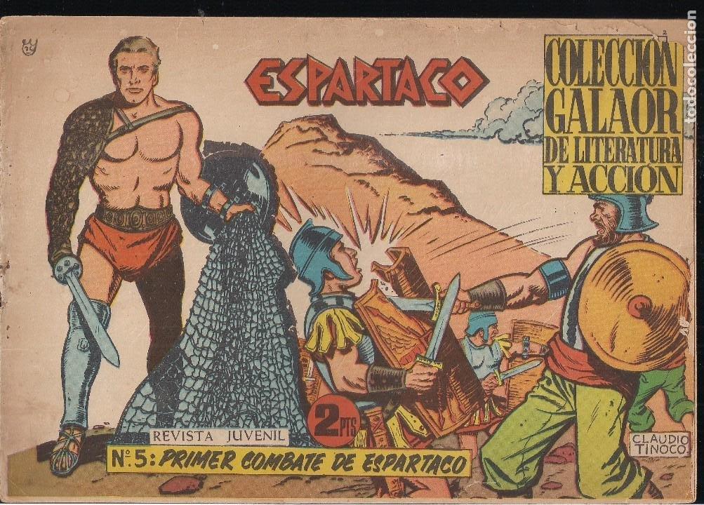 ESPARTACO Nº 5: PRIMER COMBATE DE ESPARTACO (Tebeos y Comics - Galaor)