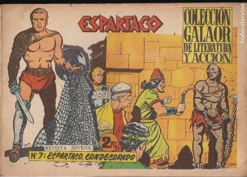 ESPARTACO Nº 7: ESPARTACO CONDECORADO (Tebeos y Comics - Galaor)