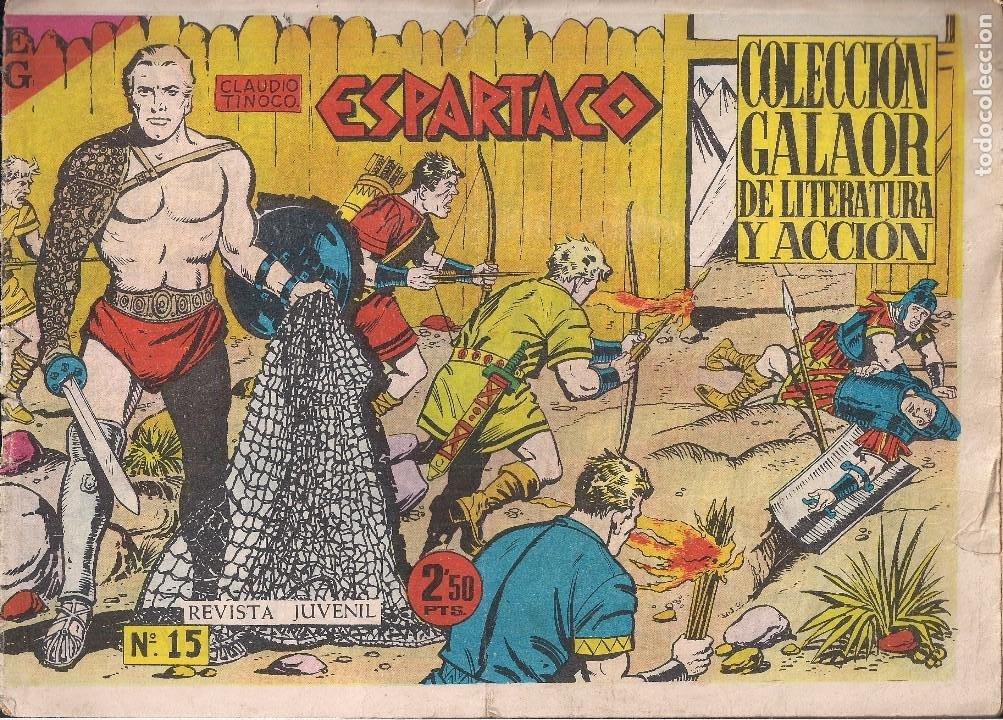 ESPARTACO Nº 15 (Tebeos y Comics - Galaor)