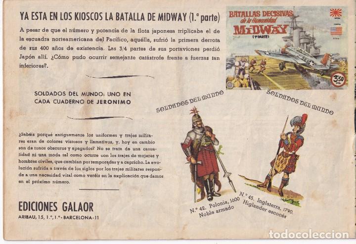 Tebeos: JERONIMO: Nº 11 ANTE EL PELOTON DE FUSILAMIENTO : EDICIONES GALAOR - Foto 2 - 210304570