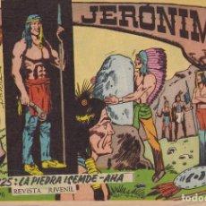 Tebeos: JERONIMO: Nº 25 LA PIEDRA ISEMDE-AHA : EDICIONES GALAOR. Lote 210344395