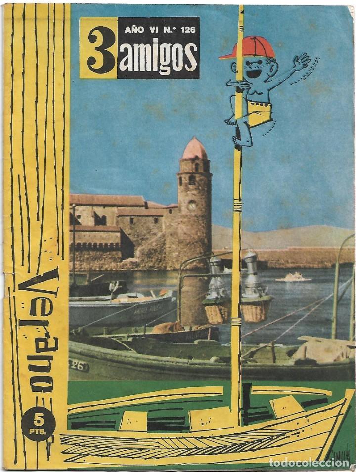 TRES 3 AMIGOS Nº 126 ÚLTIMO DE LA COLECCIÓN, PPC 1956 - LEER DESCRIPCION Y VER FOTOS (Tebeos y Comics - Galaor)