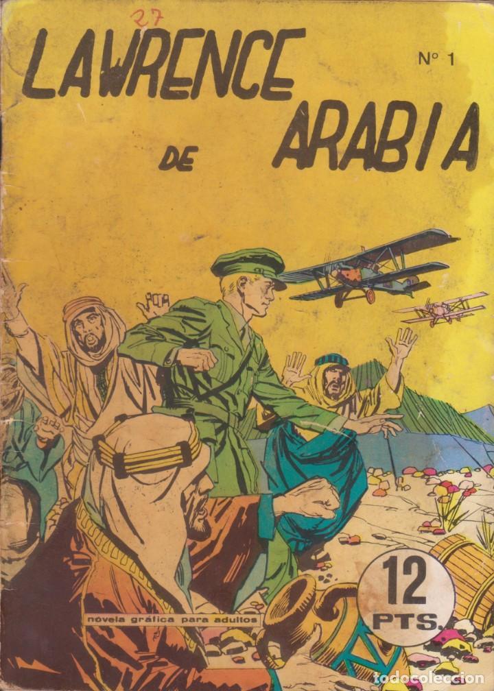 """CÓMIC """"LAWRENCE DE ARÁBIA"""" Nº 1 ED. GALAOR (FORMATO CUARTILLA DIN-A5) 50PGS. 1968 (Tebeos y Comics - Galaor)"""
