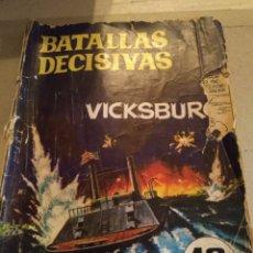 Tebeos: RELATOS GRÁFICOS PARA ADULTOS 1968. BATALLAS DECISIVAS. VICKSBUR. Lote 221000353
