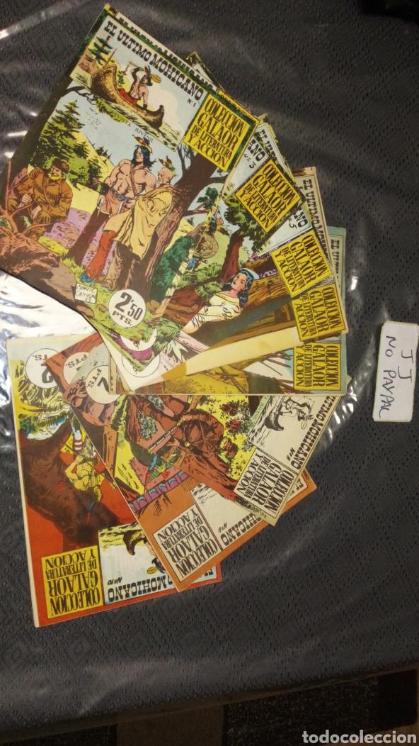 COMPLETA 10 NÚMEROS EL ÚLTIMO MOHICANO COLECCIÓN GALAOR DE LITERATURA Y ACCIÓN (Tebeos y Comics - Galaor)
