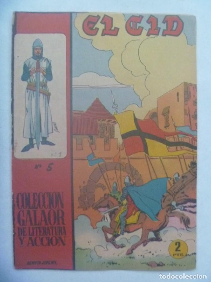 EL CID , Nº 5 . EDICIONES GALAOR 1966 (Tebeos y Comics - Galaor)