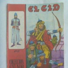 Tebeos: EL CID , Nº 11 . EDICIONES GALAOR 1966. Lote 240337485