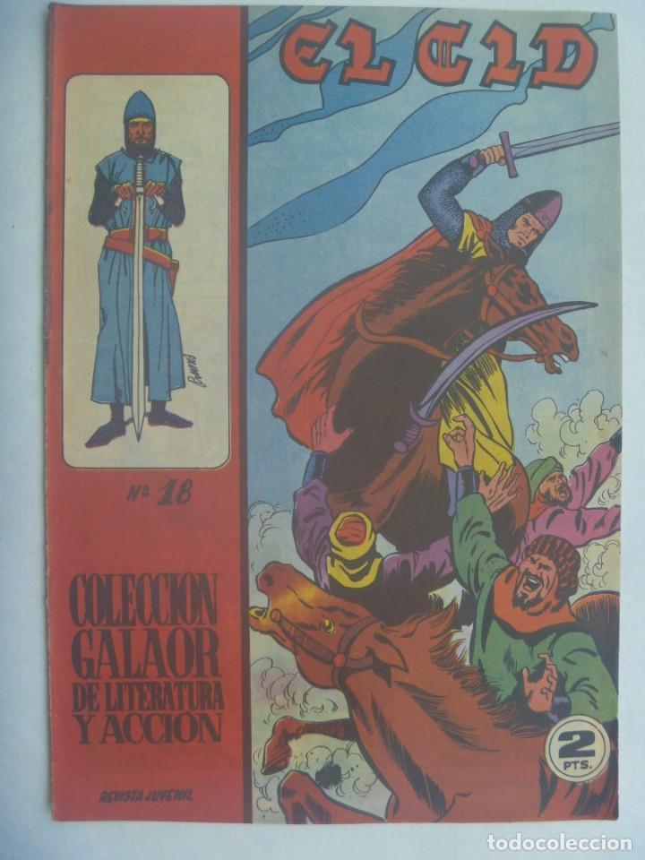EL CID , Nº 18 . EDICIONES GALAOR 1966 (Tebeos y Comics - Galaor)