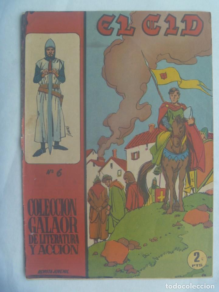 EL CID , Nº 6 . EDICIONES GALAOR 1966 (Tebeos y Comics - Galaor)