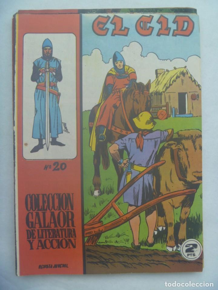 EL CID , Nº 20 . EDICIONES GALAOR 1966 (Tebeos y Comics - Galaor)