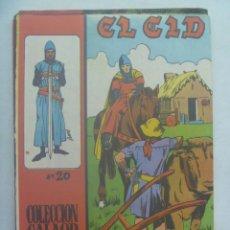 Tebeos: EL CID , Nº 20 . EDICIONES GALAOR 1966. Lote 240503370