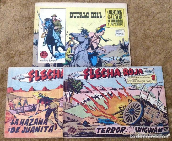 BUFALO BILL Nº 5 (GALAOR 1965), FLECHA ROJA Nº 29 Y 40 (MAGA 1962) 3 TEBEOS. (Tebeos y Comics - Galaor)