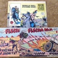 Tebeos: BUFALO BILL Nº 5 (GALAOR 1965), FLECHA ROJA Nº 29 Y 40 (MAGA 1962) 3 TEBEOS.. Lote 243337495