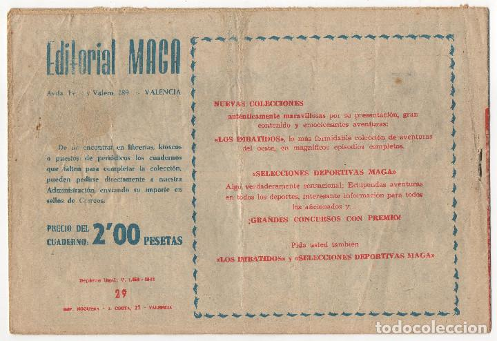 Tebeos: BUFALO BILL nº 5 (Galaor 1965), FLECHA ROJA nº 29 y 40 (Maga 1962) 3 tebeos. - Foto 5 - 243337495