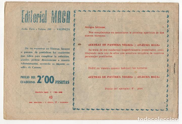 Tebeos: BUFALO BILL nº 5 (Galaor 1965), FLECHA ROJA nº 29 y 40 (Maga 1962) 3 tebeos. - Foto 7 - 243337495