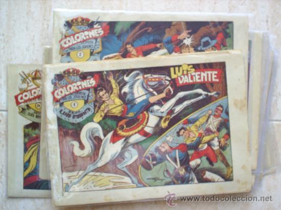 LUIS VALIENTE COLORINES GRAFIDEA 24 NUMEROS , MATIAS ALONSO , ORIGINAL COMPLETS 1958 (Tebeos y Comics - Grafidea - Otros)