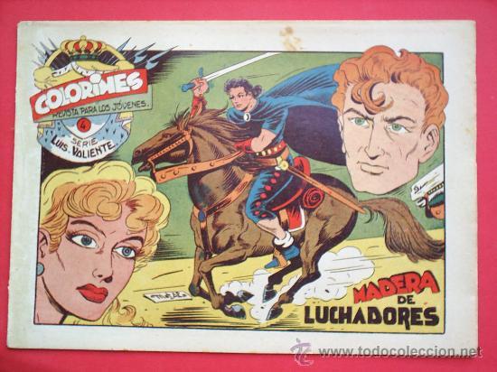 Tebeos: LUIS VALIENTE colorines grafidea 24 NUMEROS , MATIAS ALONSO , ORIGINAL COMPLETS 1958 - Foto 6 - 27413882