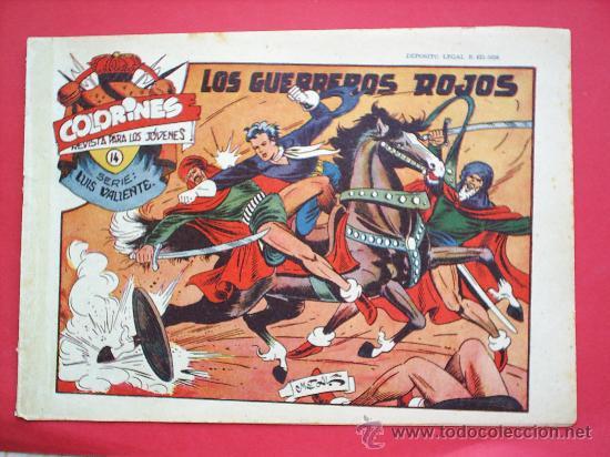 Tebeos: LUIS VALIENTE colorines grafidea 24 NUMEROS , MATIAS ALONSO , ORIGINAL COMPLETS 1958 - Foto 16 - 27413882