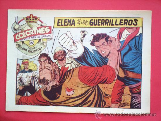 Tebeos: LUIS VALIENTE colorines grafidea 24 NUMEROS , MATIAS ALONSO , ORIGINAL COMPLETS 1958 - Foto 24 - 27413882