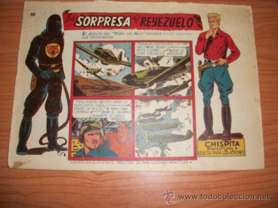 CHISPITA 9ª NOVENA AVENTURA, Nº 16 - EDITORIAL GRAFIDEA 1957 ORIGINAL (Tebeos y Comics - Grafidea - Chispita)