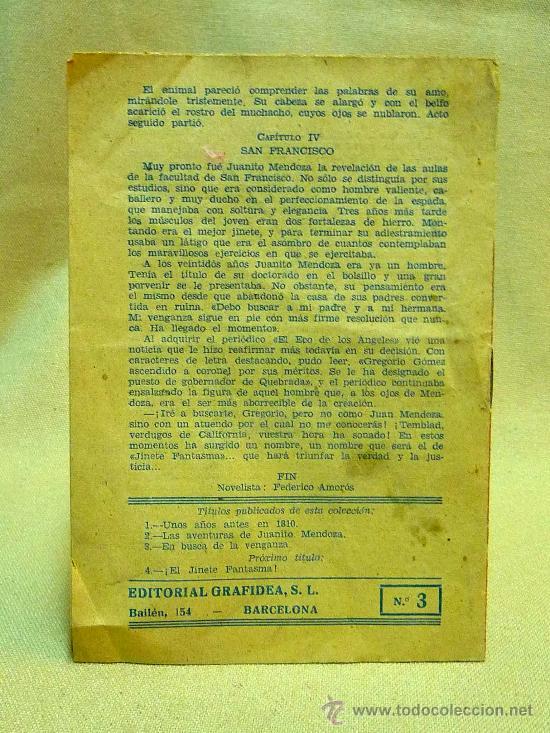 Tebeos: EL JINETE FANTASMA, EN BUSCA DE LA VENGANZA, Nº 3, GRAFIDEA - Foto 2 - 24571388