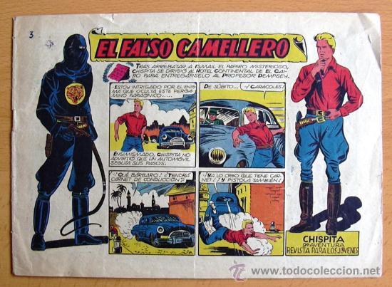 CHISPITA 9ª AVENTURA, Nº 3 - EDITORIAL GRAFIDEA 1957 (Tebeos y Comics - Grafidea - Chispita)