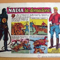 Tebeos: CHISPITA 9ª AVENTURA, Nº 4 NADIA LA DOMADORA - EDITORIAL GRAFIDEA 1957. Lote 27963628