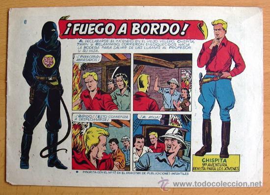 CHISPITA 9ª AVENTURA, Nº 8 - EDITORIAL GRAFIDEA 1957 (Tebeos y Comics - Grafidea - Chispita)