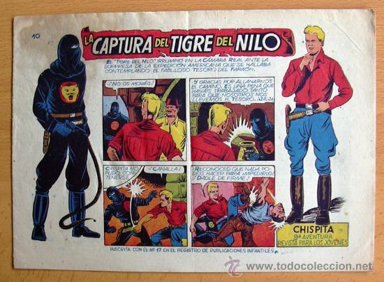 CHISPITA 9ª AVENTURA, Nº 10 - EDITORIAL GRAFIDEA 1957 (Tebeos y Comics - Grafidea - Chispita)