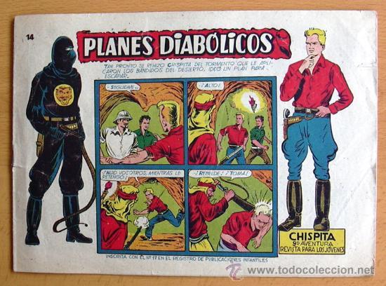CHISPITA 9ª AVENTURA, Nº 14 - EDITORIAL GRAFIDEA 1957 (Tebeos y Comics - Grafidea - Chispita)
