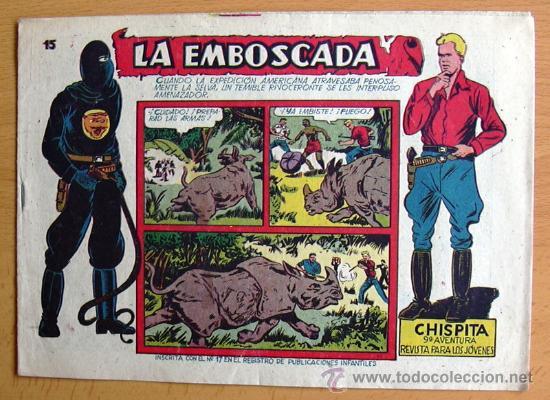 CHISPITA 9ª AVENTURA, Nº 15 - EDITORIAL GRAFIDEA 1957 (Tebeos y Comics - Grafidea - Chispita)