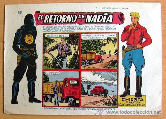 CHISPITA 9ª AVENTURA, Nº 23 - EDITORIAL GRAFIDEA 1957 (Tebeos y Comics - Grafidea - Chispita)
