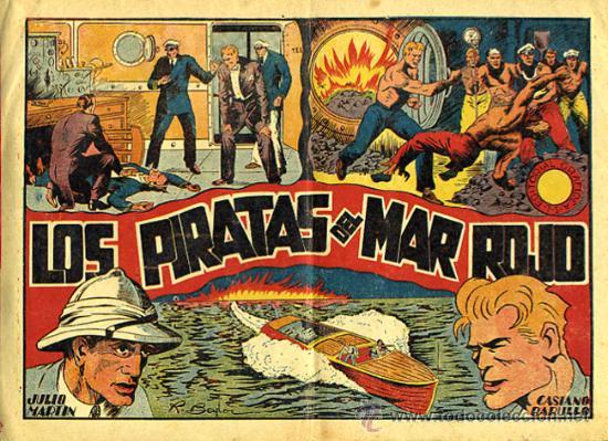 JULIO MARTIN Y CASIANO BARULLO , Nº 6 , LOS PIRATAS DEL MAR ROJO , GRAFIDEA ,ORIGINAL , C68 (Tebeos y Comics - Grafidea - Otros)