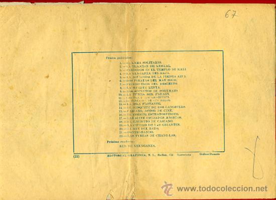 Tebeos: JULIO MARTIN Y CASIANO BARULLO , Nº 22, LAS FURIAS DE CHANG-LAS , GRAFIDEA ,ORIGINAL , C67 - Foto 4 - 30263941