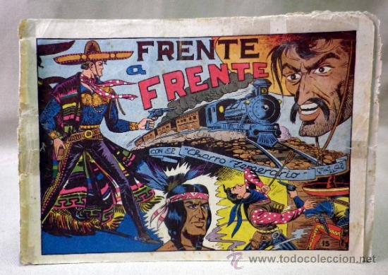 COMIC, EL CHARRO TEMERARIO, Nº 15, FRENTE A FRENTE, EDITORIAL GRAFIDEA (Tebeos y Comics - Grafidea - El Charro Temerario)