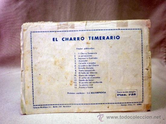 Tebeos: COMIC, EL CHARRO TEMERARIO, Nº 15, FRENTE A FRENTE, EDITORIAL GRAFIDEA - Foto 7 - 37415427