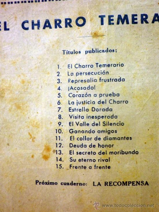 Tebeos: COMIC, EL CHARRO TEMERARIO, Nº 15, FRENTE A FRENTE, EDITORIAL GRAFIDEA - Foto 8 - 37415427