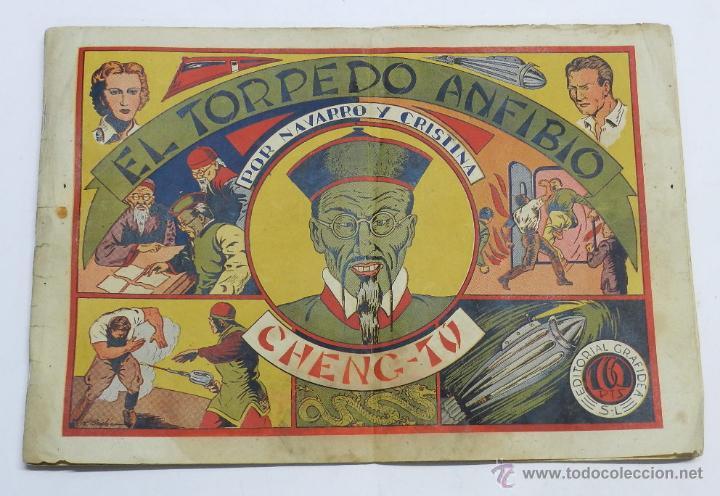 NAVARRO Y CRISTINA Nº 3: EL TORPEDO ANFIBIO. MIDE 32 X 21CM ORIGINAL DE EDITORIAL GRAFIDEA, AÑO 1944 (Tebeos y Comics - Grafidea - Otros)