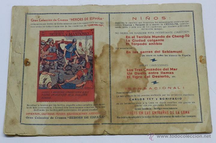 Tebeos: NAVARRO Y CRISTINA Nº 3: EL TORPEDO ANFIBIO. MIDE 32 X 21CM ORIGINAL DE EDITORIAL GRAFIDEA, AÑO 1944 - Foto 3 - 42474608