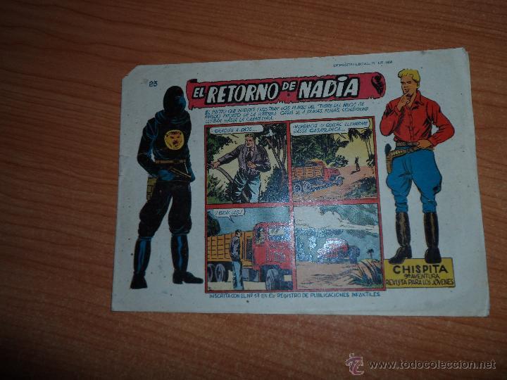 CHISPITA 9ª NOVENA AVENTURA, Nº 23- EDITORIAL GRAFIDEA 1957 ORIGINAL (Tebeos y Comics - Grafidea - Chispita)