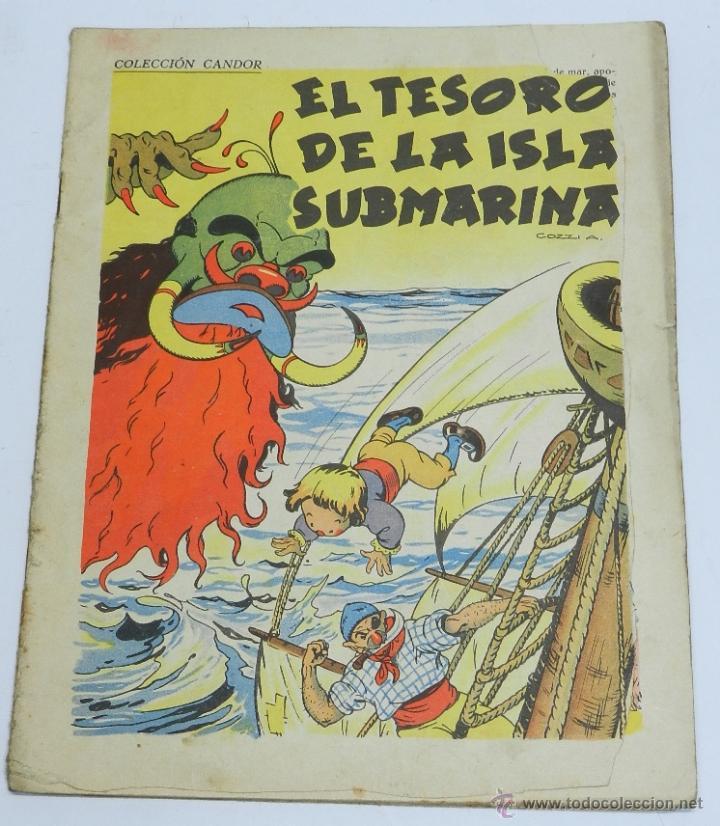 EL TESORO DE LA ISLA SUBMARINA, ILUSTRACIONES DE COZZI A., COLECCION CANDOR, PUBLICACIONES CINEMA, T (Tebeos y Comics - Grafidea - Otros)