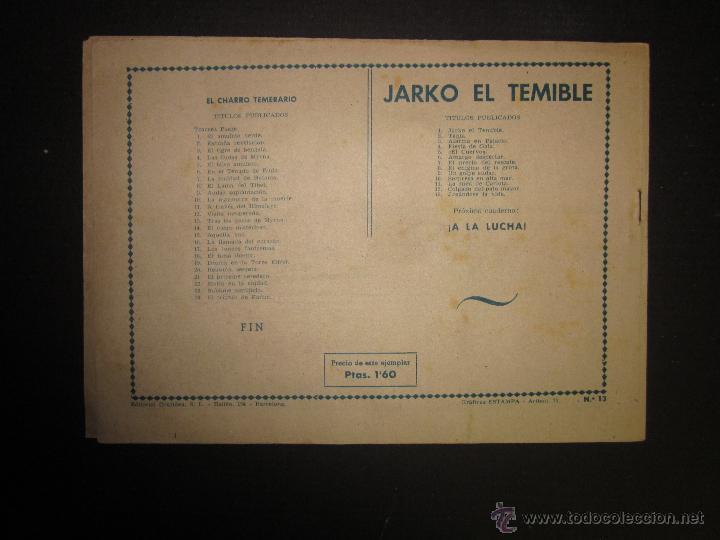 Tebeos: JARKO EL TEMIBLE - NUMERO 13 - JUGANDOSE LA VIDA - Foto 8 - 45924678