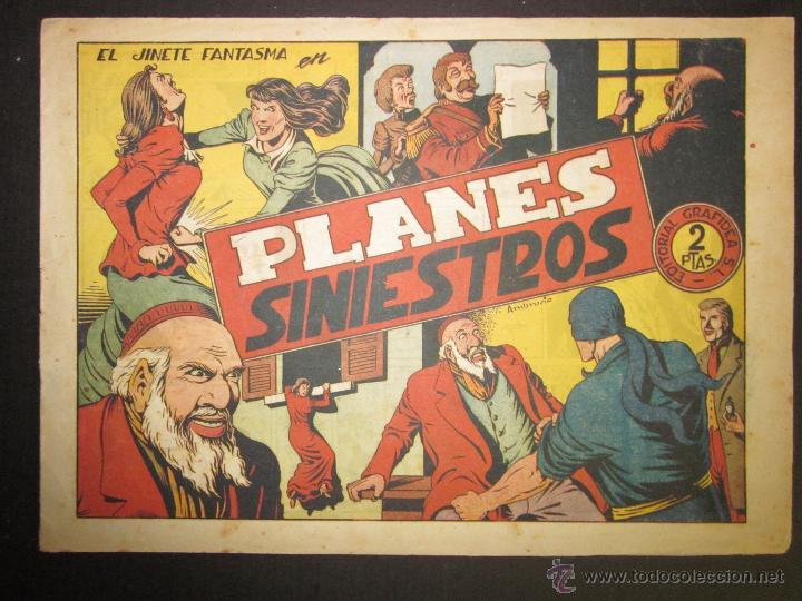 EL JINETE FANTASMA - ORIGINAL - PLANES SINIESTROS - 2 PESETAS - (COM -207) (Tebeos y Comics - Grafidea - El Jinete Fantasma)