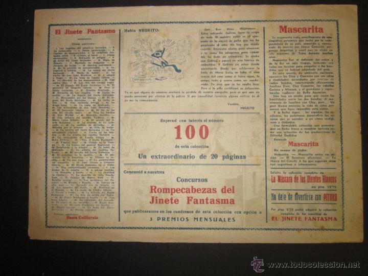 Tebeos: EL JINETE FANTASMA - ORIGINAL - PLANES SINIESTROS - 2 PESETAS - (COM -207) - Foto 3 - 45967579