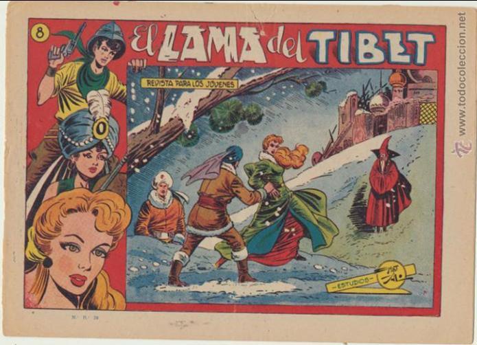 EL AMULETO VERDE Nº 8 . GRAFIDEA 1956. (Tebeos y Comics - Grafidea - Otros)