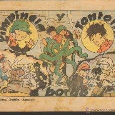 Tebeos: TEBEOS-COMICS GOYO - PIMPINELA Y TONTOLIN - GRAFIDEA 1942 - Nº UNICO - ORIGINAL - MUY DIFICIL*BB99 +. Lote 49616882