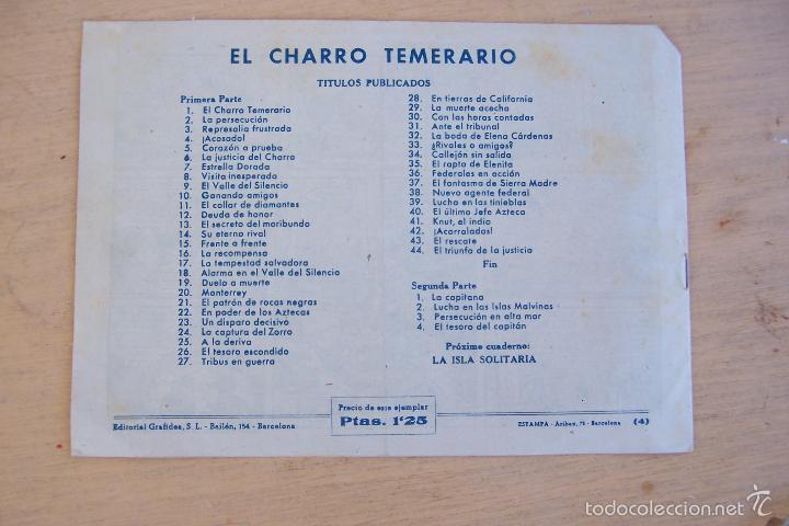 Tebeos: grafidea el charro temerario 1 reedición-2-4-34-41 y 2ª parte la capitana nº 4-18-5-17-36 - Foto 9 - 32972170