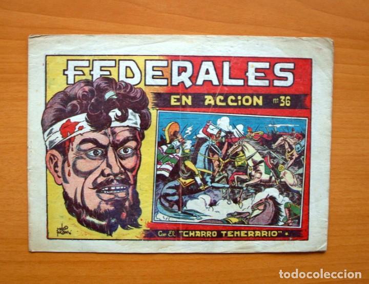 EL CHARRO TEMERARIO, Nº 36 FEDERALES EN ACCIÓN - EDITORIAL GRAFIDEA 1953 (Tebeos y Comics - Grafidea - El Charro Temerario)